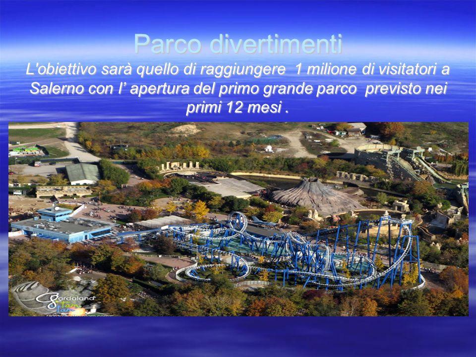 Parco divertimenti L obiettivo sarà quello di raggiungere 1 milione di visitatori a Salerno con l apertura del primo grande parco previsto nei primi 12 mesi.
