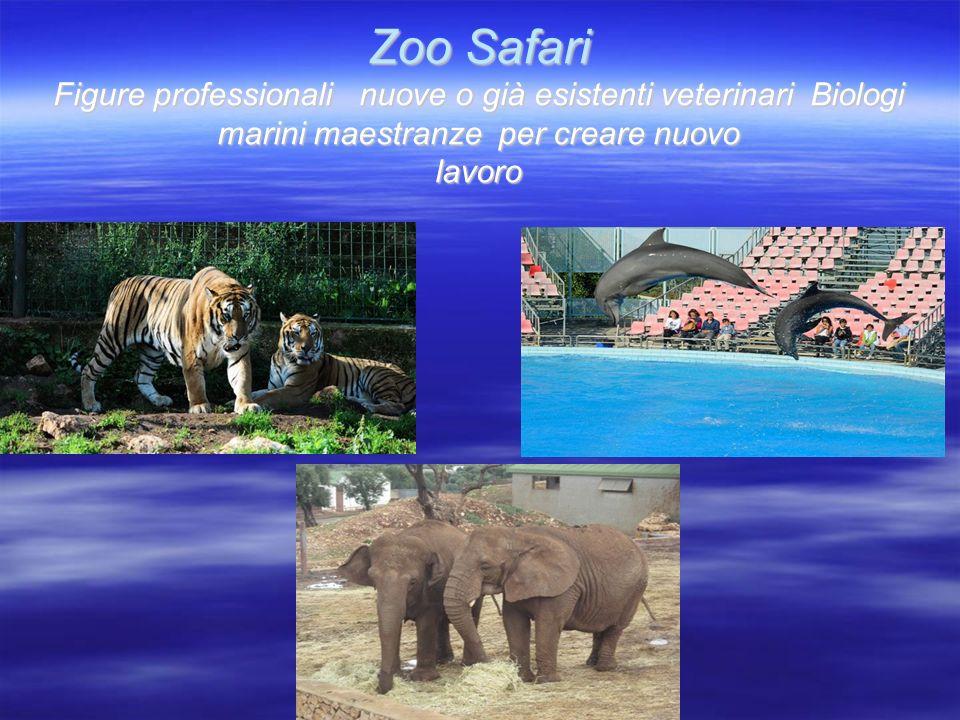Zoo Safari Figure professionali nuove o già esistenti veterinari Biologi marini maestranze per creare nuovo lavoro