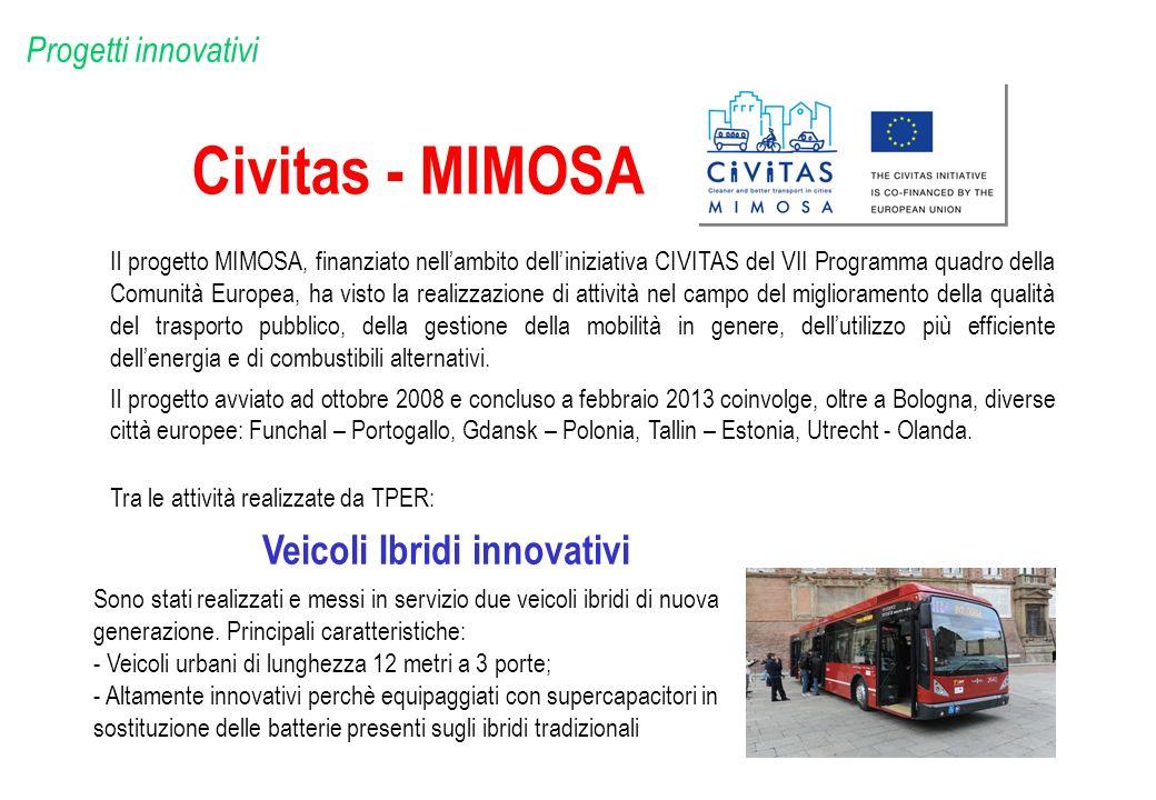 Civitas - MIMOSA Il progetto MIMOSA, finanziato nellambito delliniziativa CIVITAS del VII Programma quadro della Comunità Europea, ha visto la realizz