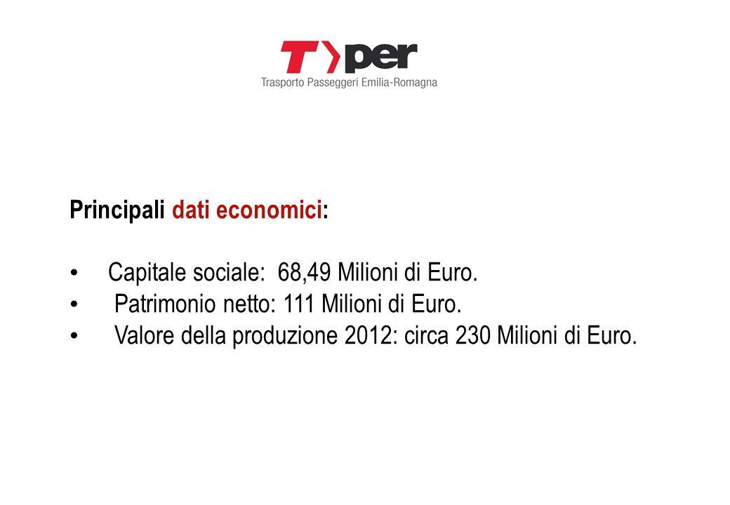 Principali dati economici: Capitale sociale: 68,49 Milioni di Euro. Patrimonio netto: 111 Milioni di Euro. Valore della produzione 2012: circa 230 Mil
