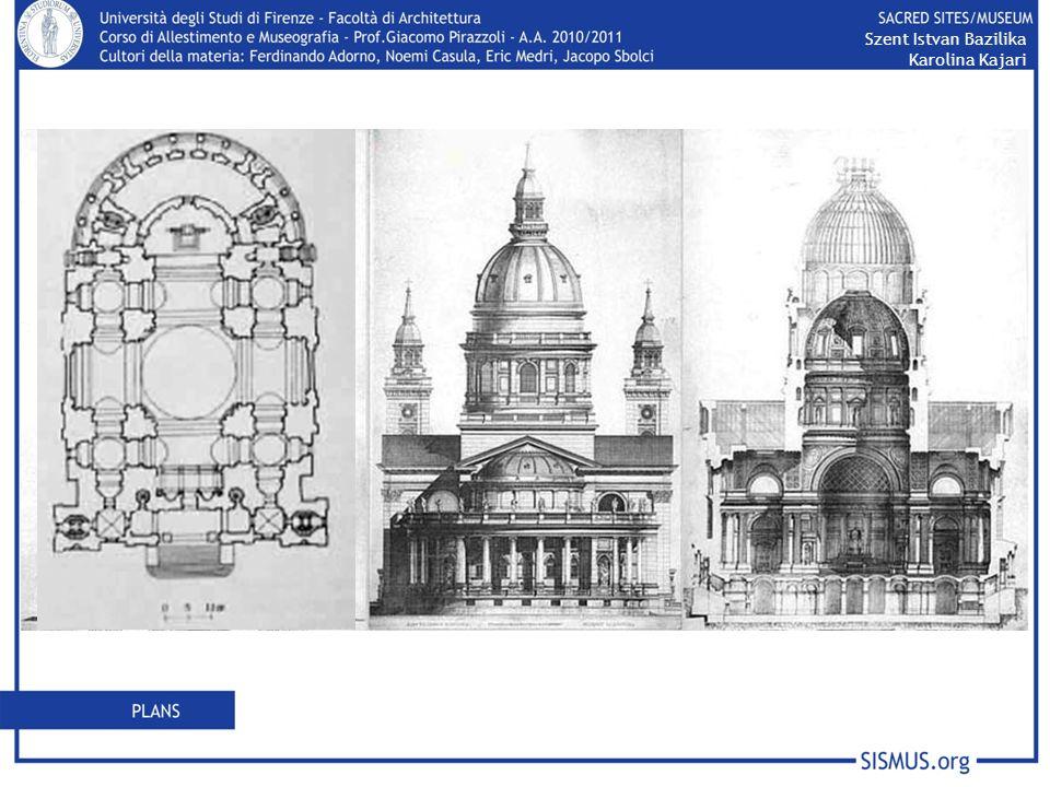 Szent Istvan Bazilika Karolina Kajari Hild ha progettato la chiesa in uno stile classicheggiante, nonostante in Europa esistesse già lo stile romantico.