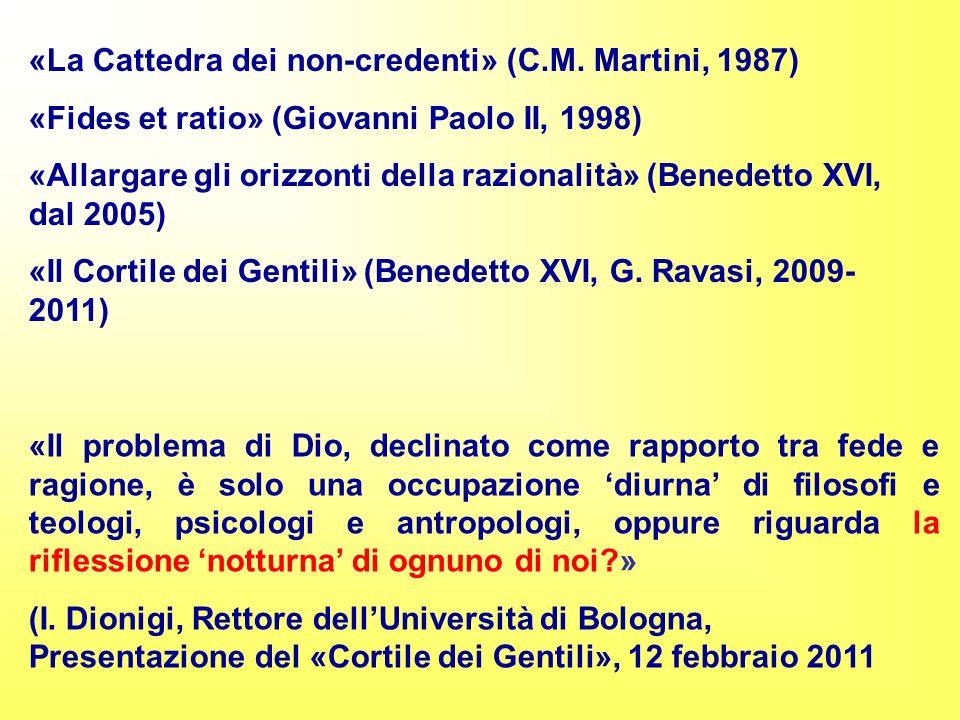 «La Cattedra dei non-credenti» (C.M.