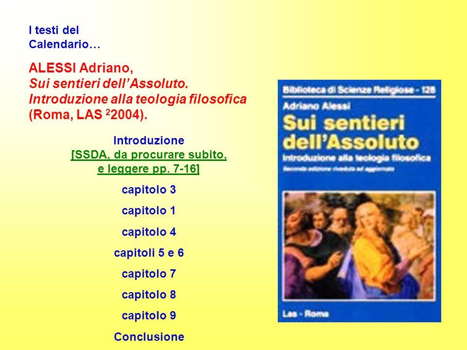 ALESSI Adriano, Sui sentieri dellAssoluto.