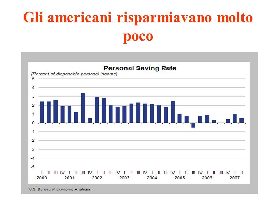 Gli americani risparmiavano molto poco