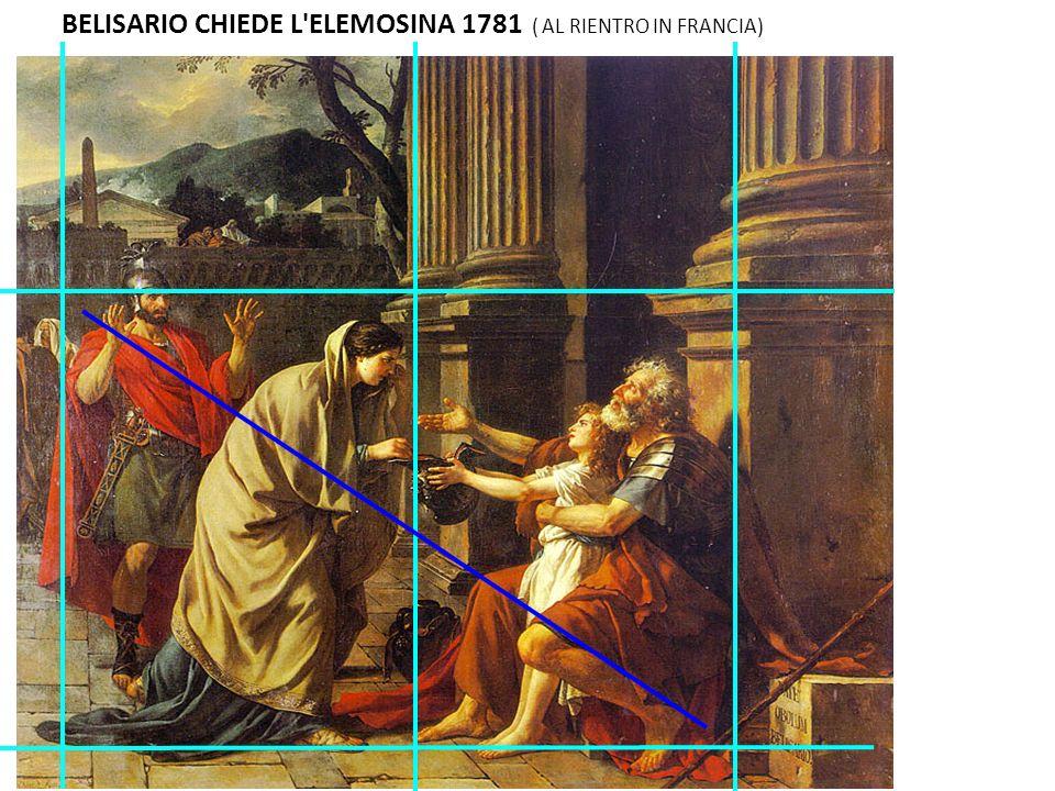 BELISARIO CHIEDE L ELEMOSINA 1781 ( AL RIENTRO IN FRANCIA)