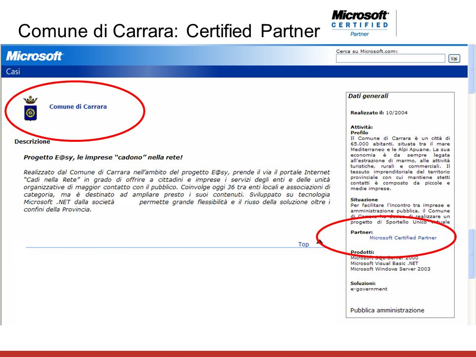 Comune di Carrara: Certified Partner