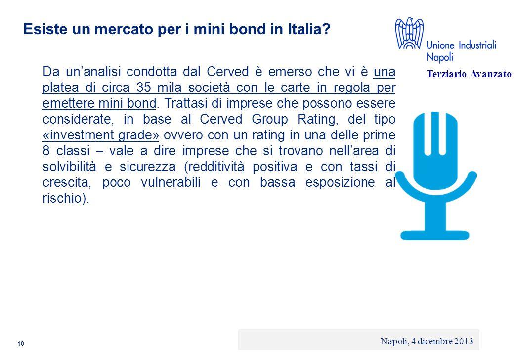 © 2013 Deloitte Touche Tohmatsu Limited - Private and confidential Esiste un mercato per i mini bond in Italia? Da unanalisi condotta dal Cerved è eme