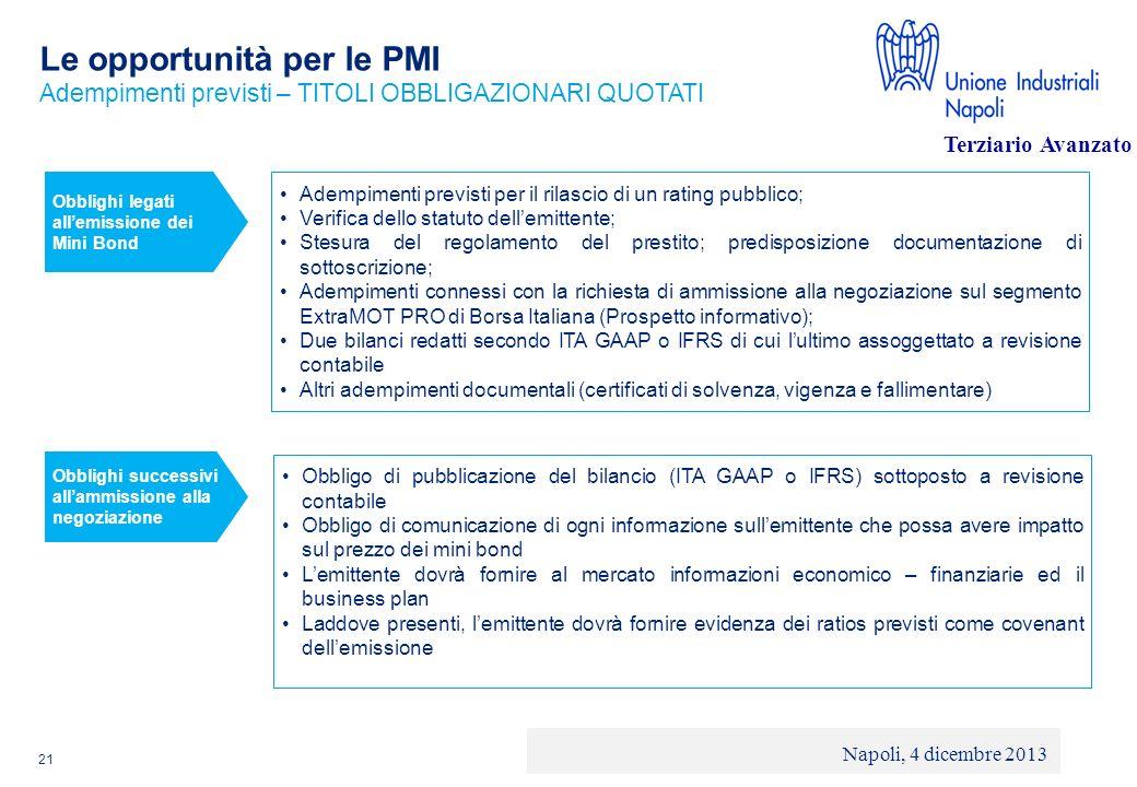© 2013 Deloitte Touche Tohmatsu Limited - Private and confidential Le opportunità per le PMI 21 Adempimenti previsti per il rilascio di un rating pubb