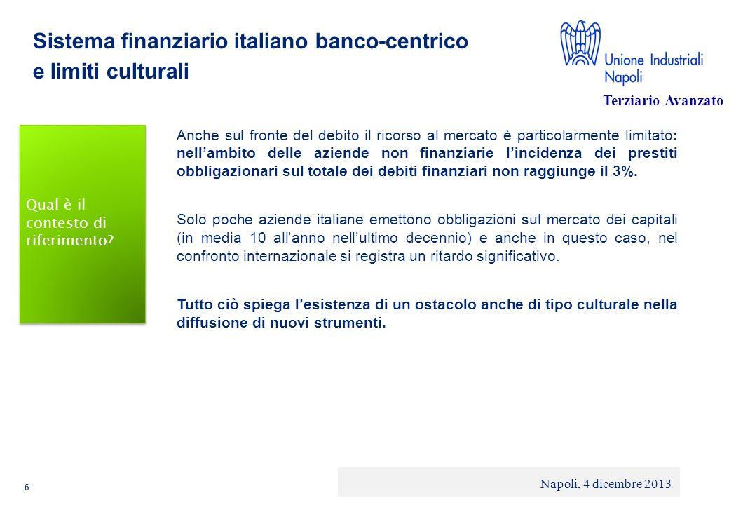 © 2013 Deloitte Touche Tohmatsu Limited - Private and confidential Sistema finanziario italiano banco-centrico e limiti culturali Anche sul fronte del