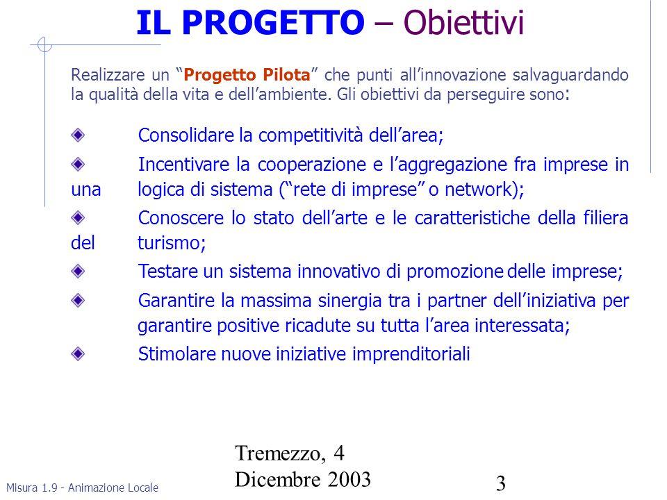 Misura 1.9 - Animazione Locale Tremezzo, 4 Dicembre 2003 4 ALcard – Le Opportunità in Gioco 1.