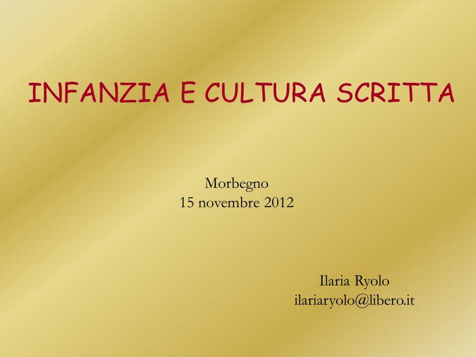 INFANZIA E CULTURA SCRITTA Ilaria Ryolo ilariaryolo@libero.it Morbegno 15 novembre 2012