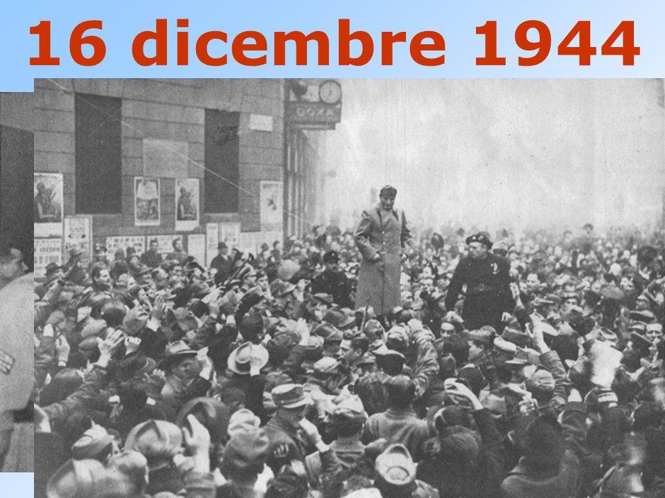 16 dicembre 1944 MUSSOLINI PARLA AL TEATRO LIRICO DI MILANO