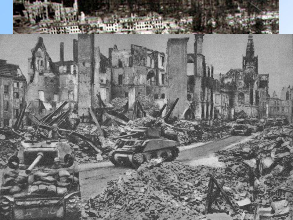 La Cancelleria distrutta dai bombardamenti 7 maggio: capitolazione tedesca (Reims) 8 maggio: firma la resa a Berlino