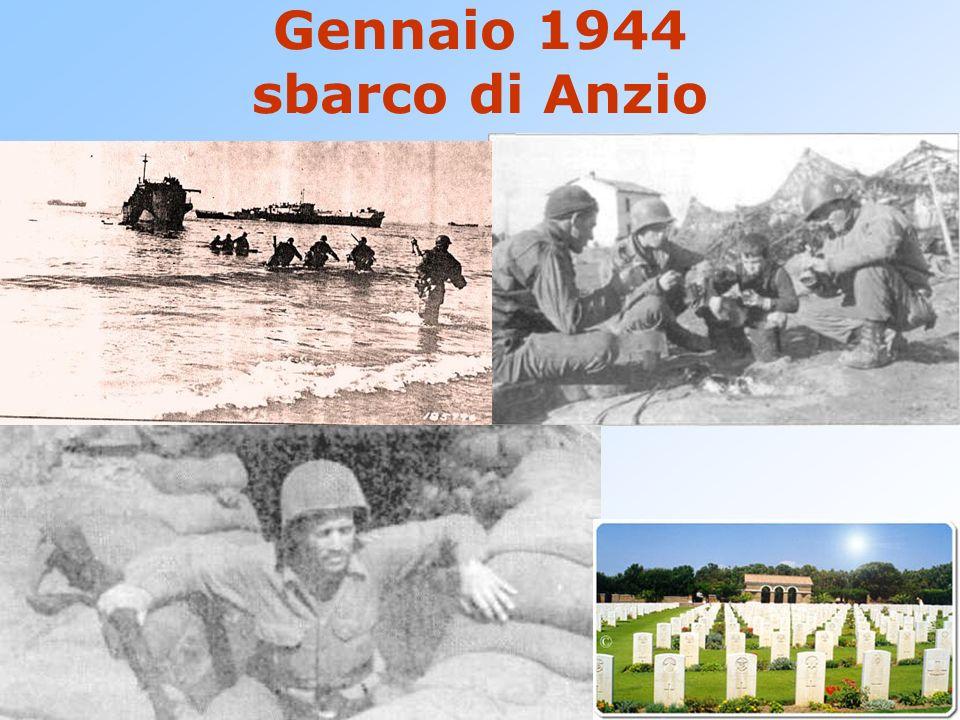 Gennaio 1944 sbarco di Anzio