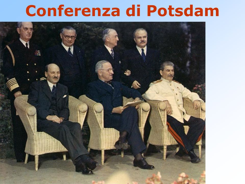 Conferenza di Potsdam Progetto Manhattan – Los Alamos Bambini nati in modo soddisfacente Enola Gay Little boy