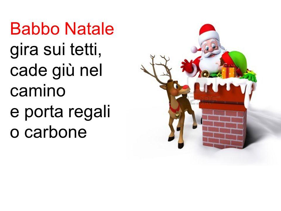 Babbo Natale porta carbone ai bambini cattivi.
