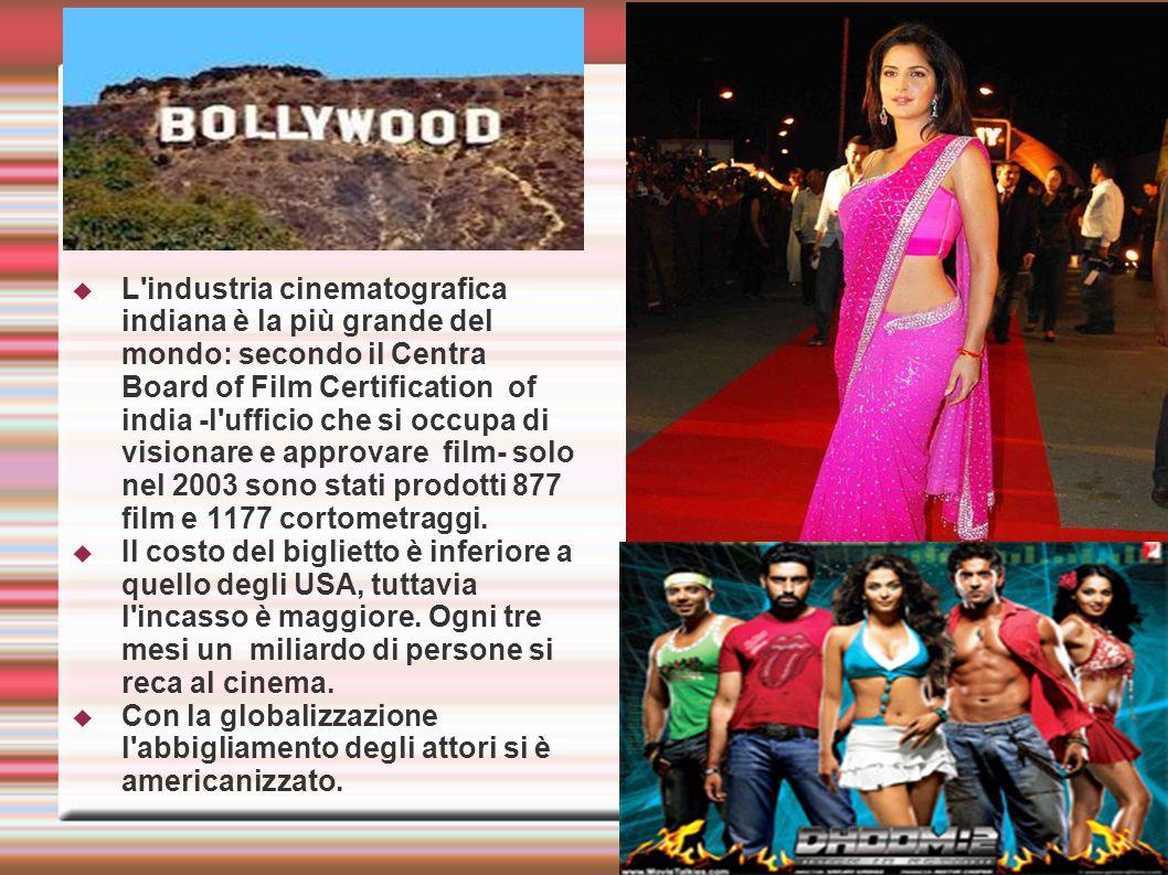 L'industria cinematografica indiana è la più grande del mondo: secondo il Centra Board of Film Certification of india -l'ufficio che si occupa di visi