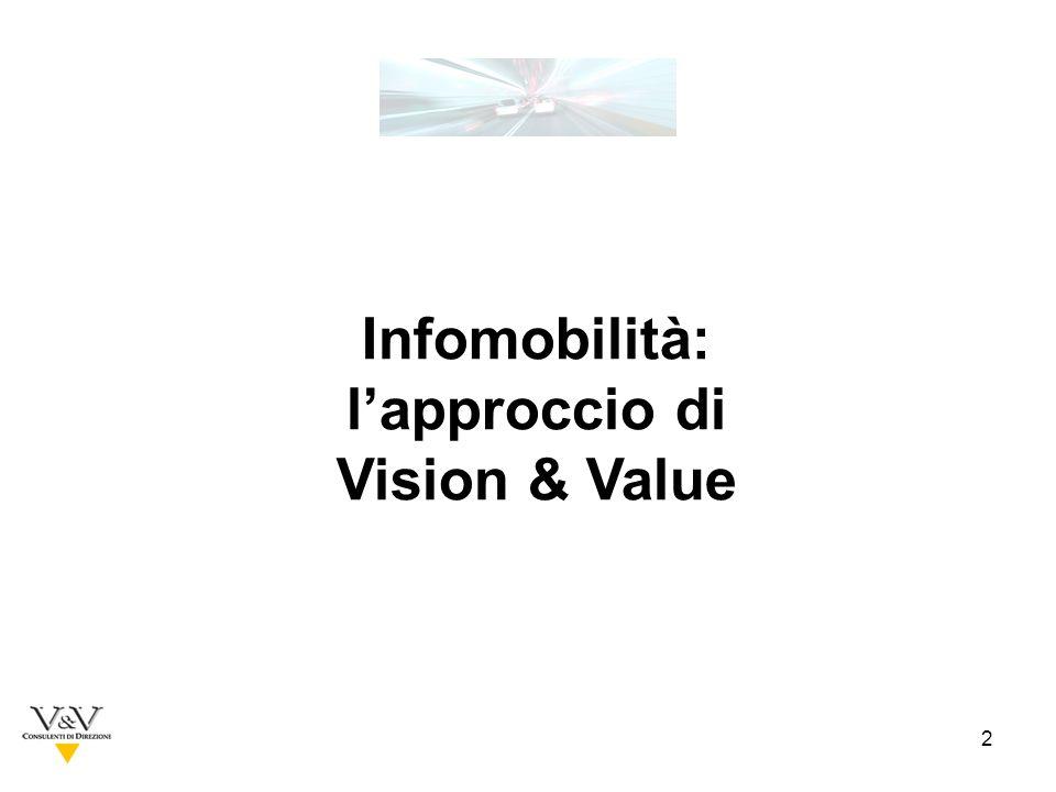 2 Infomobilità: lapproccio di Vision & Value