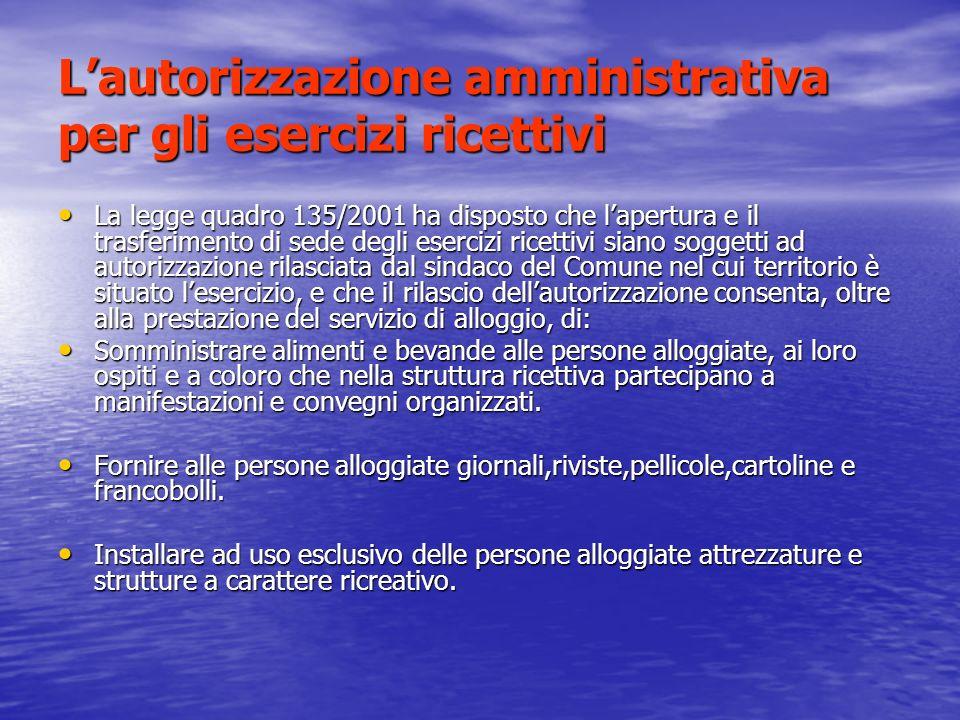 Lautorizzazione amministrativa per le imprese di viaggi.