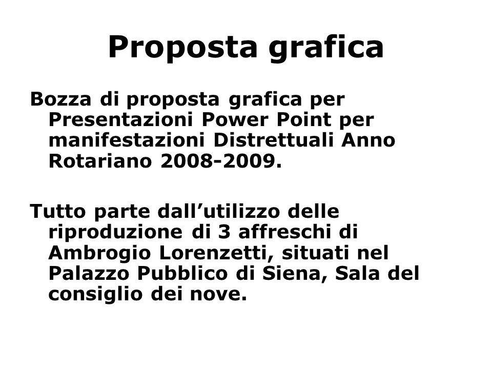 Proposta grafica Bozza di proposta grafica per Presentazioni Power Point per manifestazioni Distrettuali Anno Rotariano 2008-2009. Tutto parte dalluti