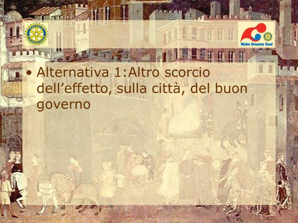Alternativa 1:Altro scorcio delleffetto, sulla città, del buon governo