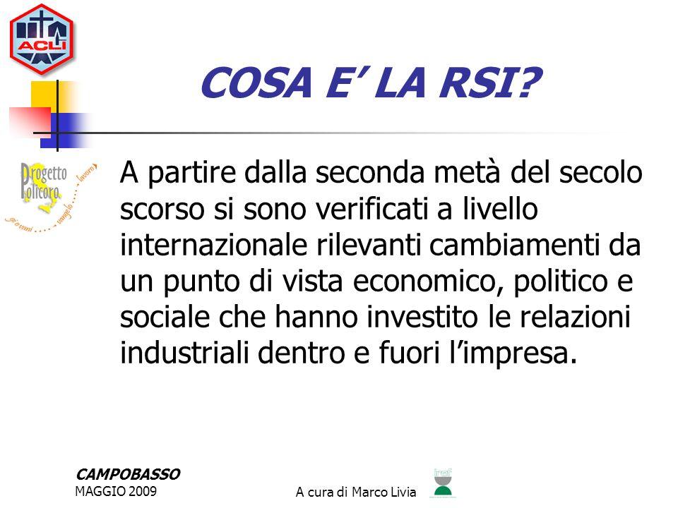 CAMPOBASSO MAGGIO 2009A cura di Marco Livia COSA E LA RSI.