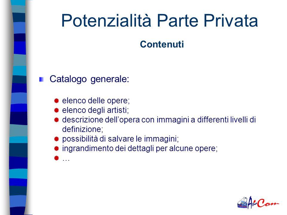 Strategie Consigliate Realizzazione di una parte privata. La filosofia di avere unarea ad accesso protetto è quella di condividere velocemente e da qu