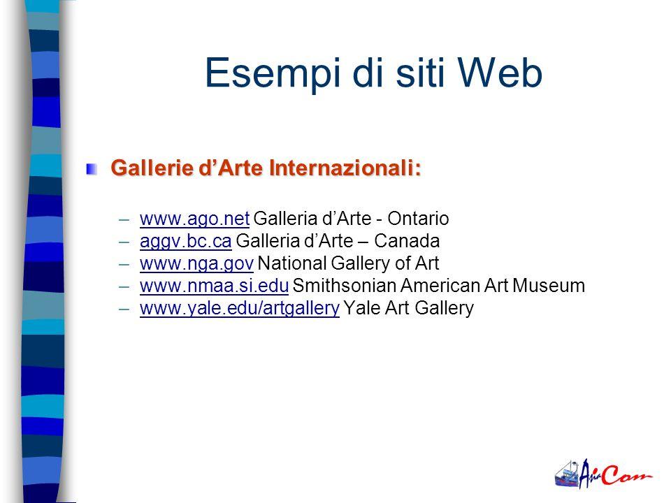 Gallerie dArte: –www.artesegno.com Galleria dArte - Udinewww.artesegno.com –www.bigli.com Galleria dArte - Milanowww.bigli.com –www.artwm.com Galleria