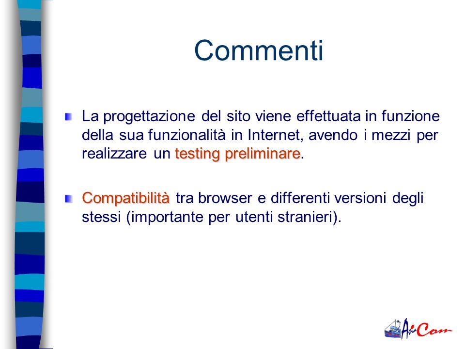 Immagine: –www.bulgari.comwww.bulgari.com –www.ferrari.itwww.ferrari.itProdotto: –www.cefra.itwww.cefra.it –www.novimpianti-ross.itwww.novimpianti-ross.it –www.v-proc.comwww.v-proc.com Esempi di siti Web Informazione: –www.nic.itwww.nic.it –www.cnnitalia.itwww.cnnitalia.it Parte Privata: –www.espot.itwww.espot.it –www.nostraofficina.itwww.nostraofficina.it