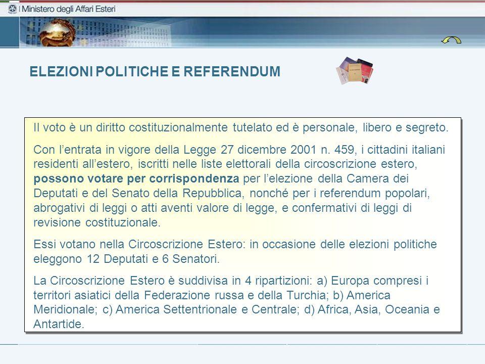 Elezioni Politiche e Referendum Dove si può votare per posta In tutti gli Stati che hanno sottoscritto le intese con il Governo italiano