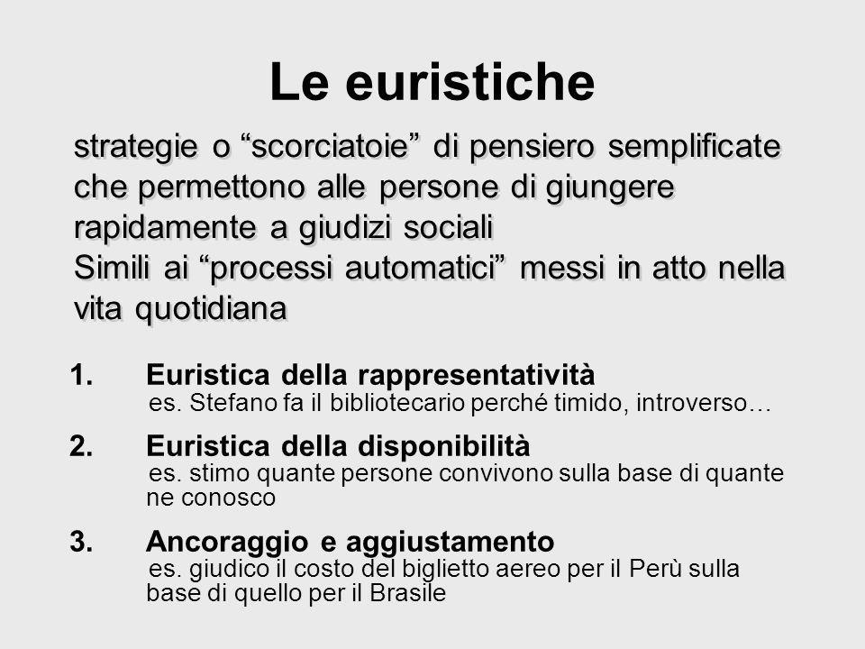 Schemi di tipizzazione della personalità (Salvini) Attribuzioni categoriali di tipo valutativo, diagnostico e prognostico, utilizzati nellattribuire set di disposizioni ad individui accomunati da qualche aspetto distintivo Funzioni pragmatiche: descrittivo-nosografiche eziologiche inferenziali (conoscenza indiziaria) di senso comune
