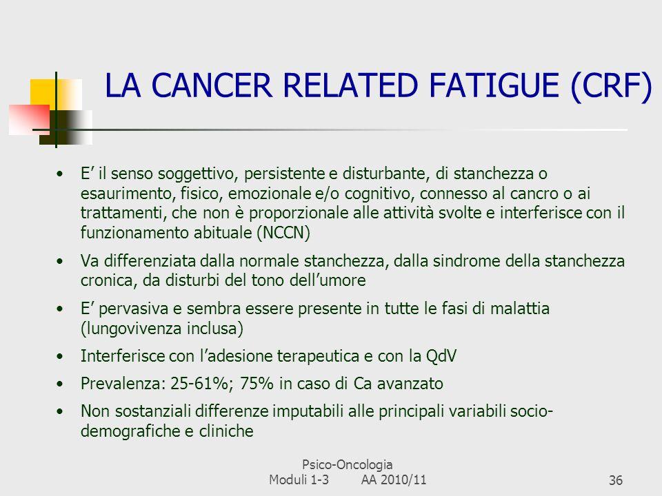 Psico-Oncologia Moduli 1-3 AA 2010/1135 RIPERCUSSIONI SUL FUNZIONAMENTO COGNITIVO Funzionamento cognitivo = Insieme delle capacità cerebrali (memoria,