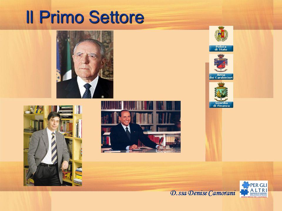 Il Secondo Settore D.ssa Denise Camorani