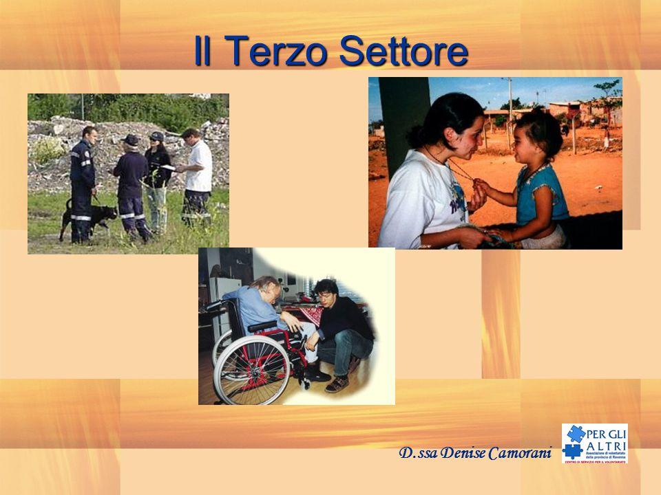 DEFINIZIONE DI TERZO SETTORE… D.ssa Denise Camorani