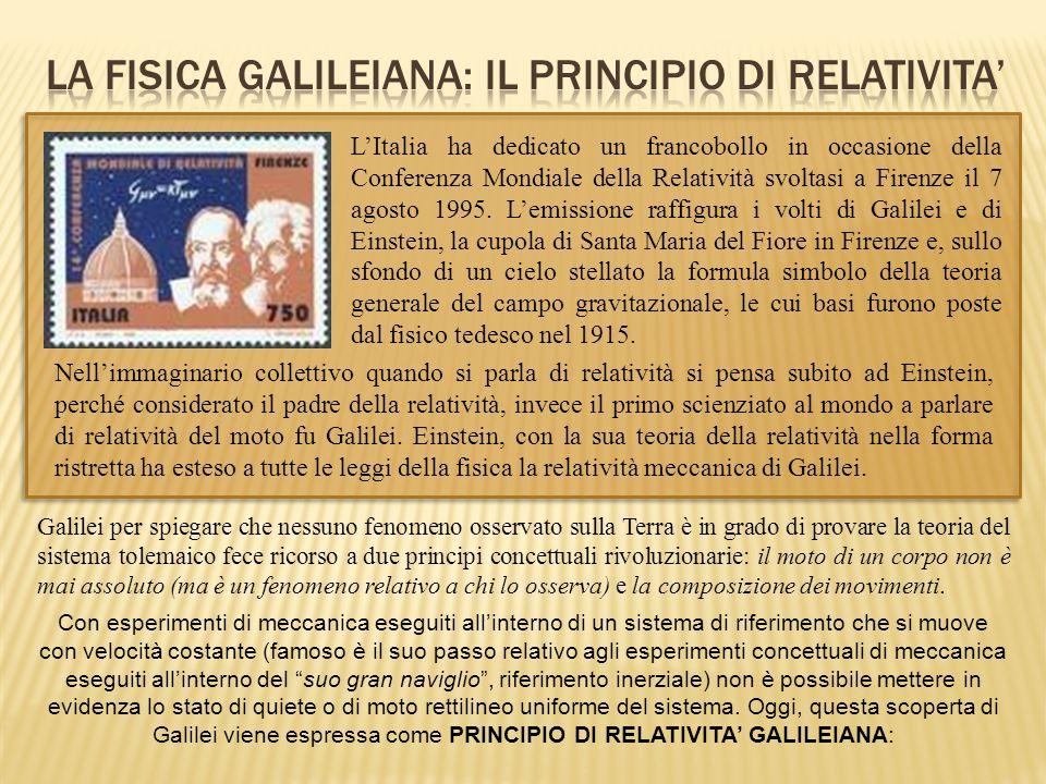 LItalia ha dedicato un francobollo in occasione della Conferenza Mondiale della Relatività svoltasi a Firenze il 7 agosto 1995. Lemissione raffigura i