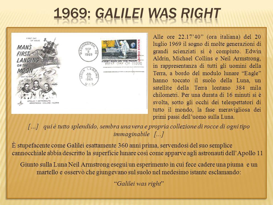 Alle ore 22.1740 (ora italiana) del 20 luglio 1969 il sogno di molte generazioni di grandi scienziati si è compiuto. Edwin Aldrin, Michael Collins e N