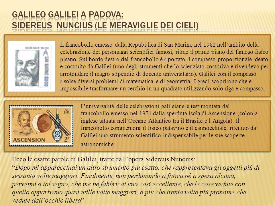Il francobollo emesso dalla Repubblica di San Marino nel 1982 nellambito della celebrazione dei personaggi scientifici famosi, ritrae il primo piano d