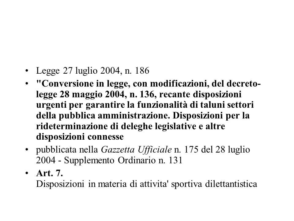 Legge 27 luglio 2004, n. 186