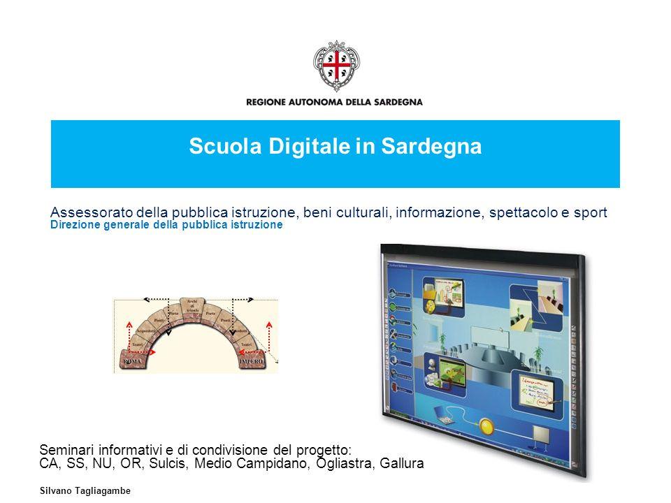 2 Condivisione Sardegna, Maggio 2011 Scuola digitale in Sardegna Questi sono i primi momenti di comunicazione del Progetto per realizzare un clima di collaborazione e condivisione espressamente richiesti dellAssessore Sergio Milia.