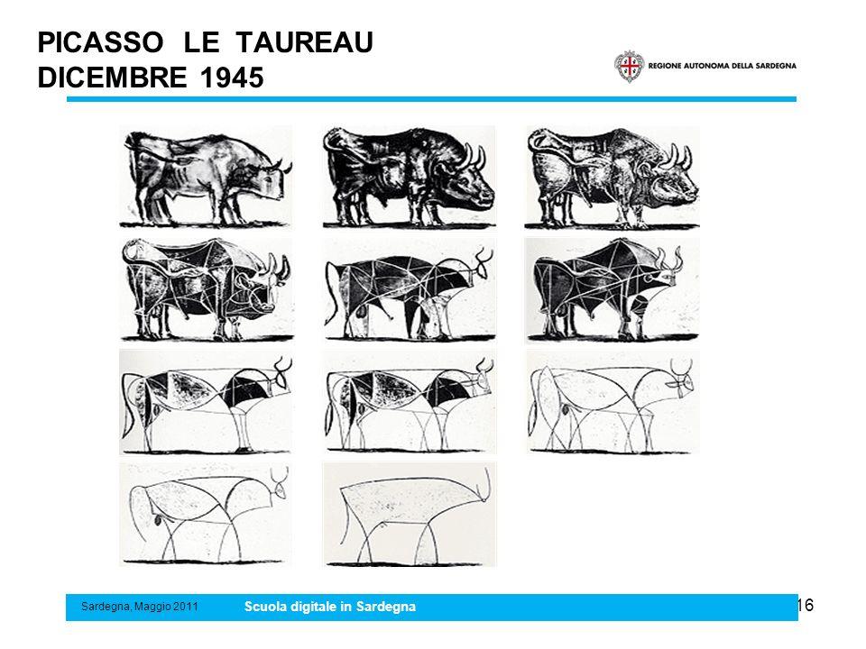 16 PICASSO LE TAUREAU DICEMBRE 1945 Sardegna, Maggio 2011 Scuola digitale in Sardegna