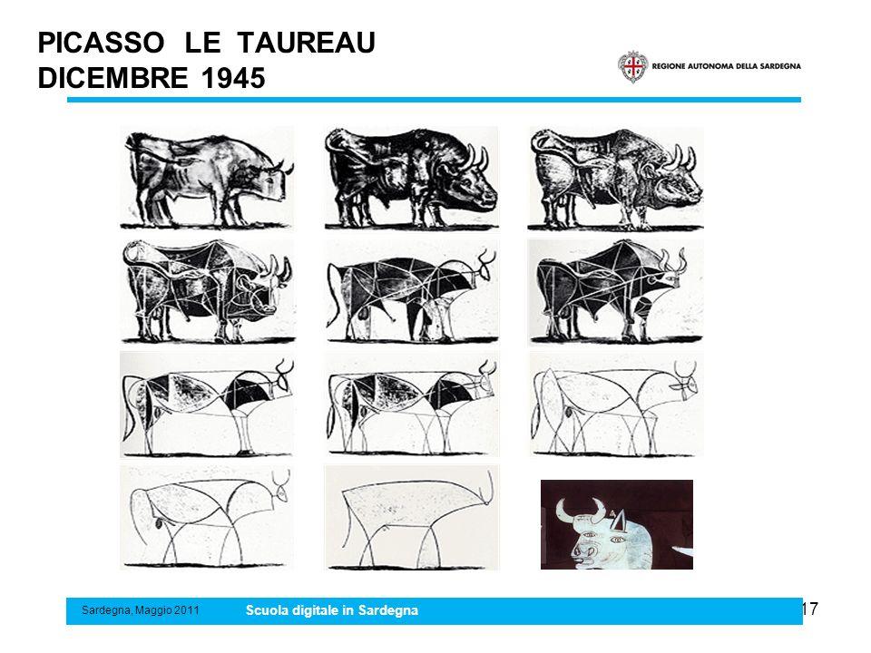 17 PICASSO LE TAUREAU DICEMBRE 1945 Sardegna, Maggio 2011 Scuola digitale in Sardegna