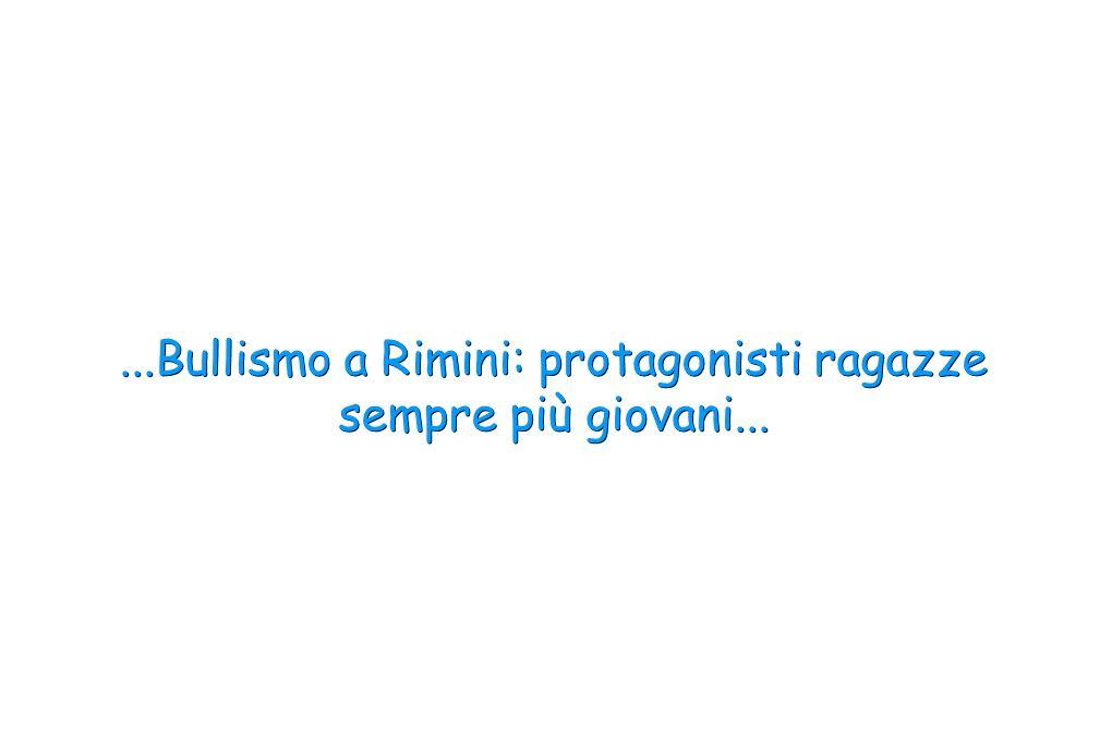 ...Bullismo a Rimini: protagonisti ragazze sempre più giovani...
