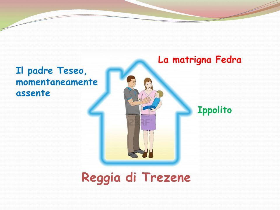 Reggia di Trezene Il padre Teseo, momentaneamente assente La matrigna Fedra Ippolito