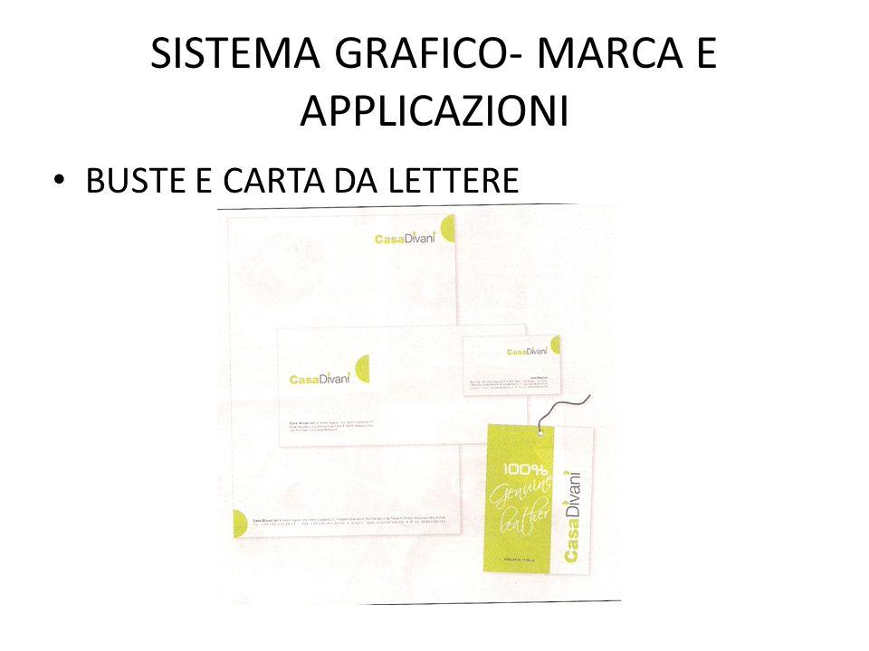 SISTEMA GRAFICO- MARCA E APPLICAZIONI BUSTE E CARTA DA LETTERE