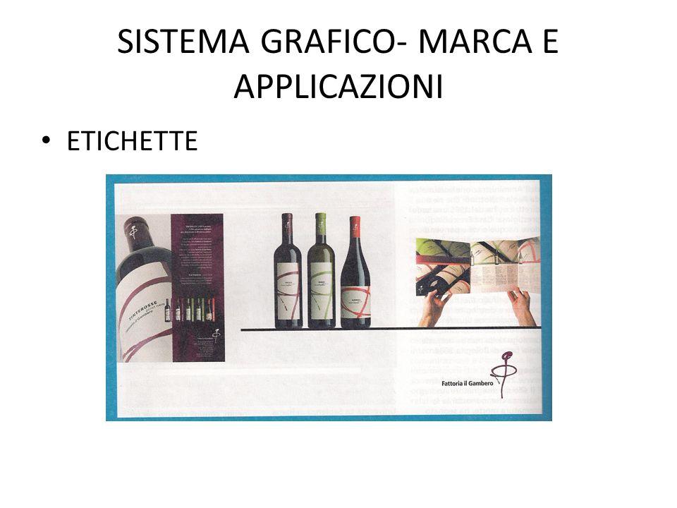 SISTEMA GRAFICO- MARCA E APPLICAZIONI ETICHETTE