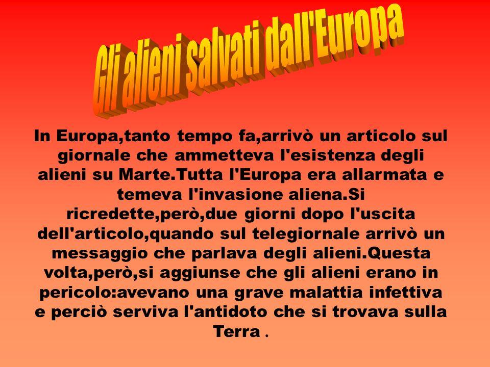 In Europa,tanto tempo fa,arrivò un articolo sul giornale che ammetteva l'esistenza degli alieni su Marte.Tutta l'Europa era allarmata e temeva l'invas