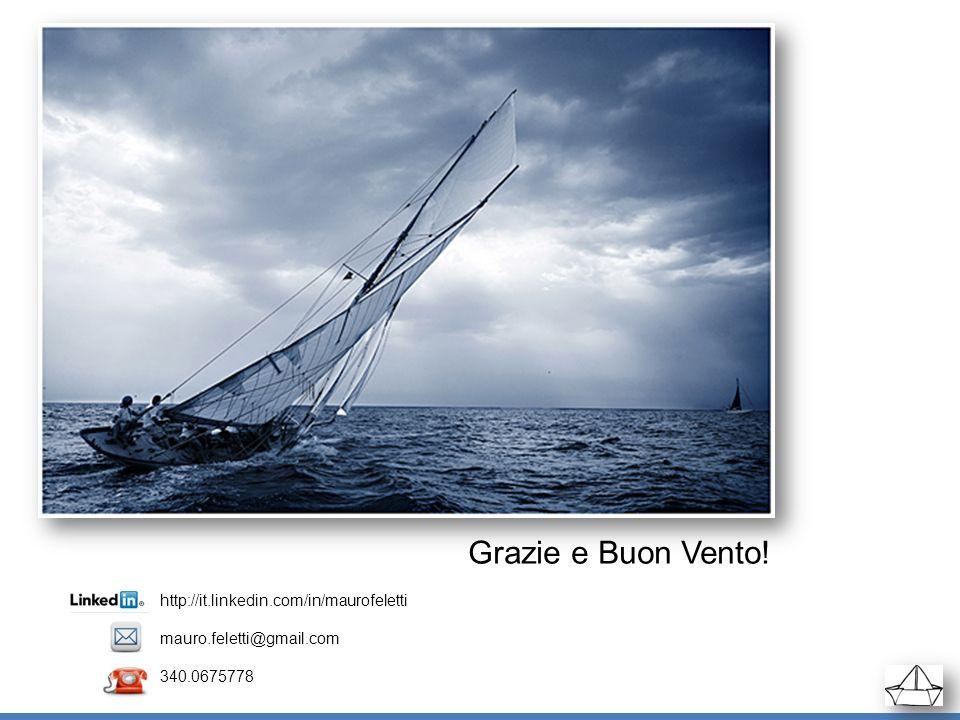 http://it.linkedin.com/in/maurofeletti mauro.feletti@gmail.com 340.0675778 Grazie e Buon Vento!