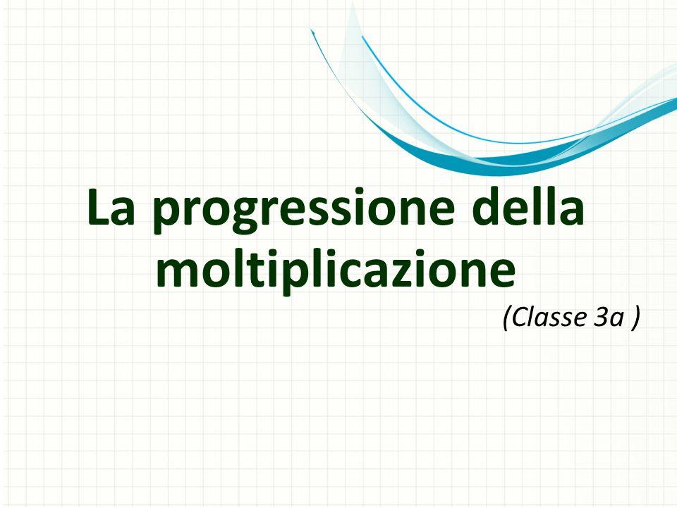 La progressione della moltiplicazione (Classe 3a )