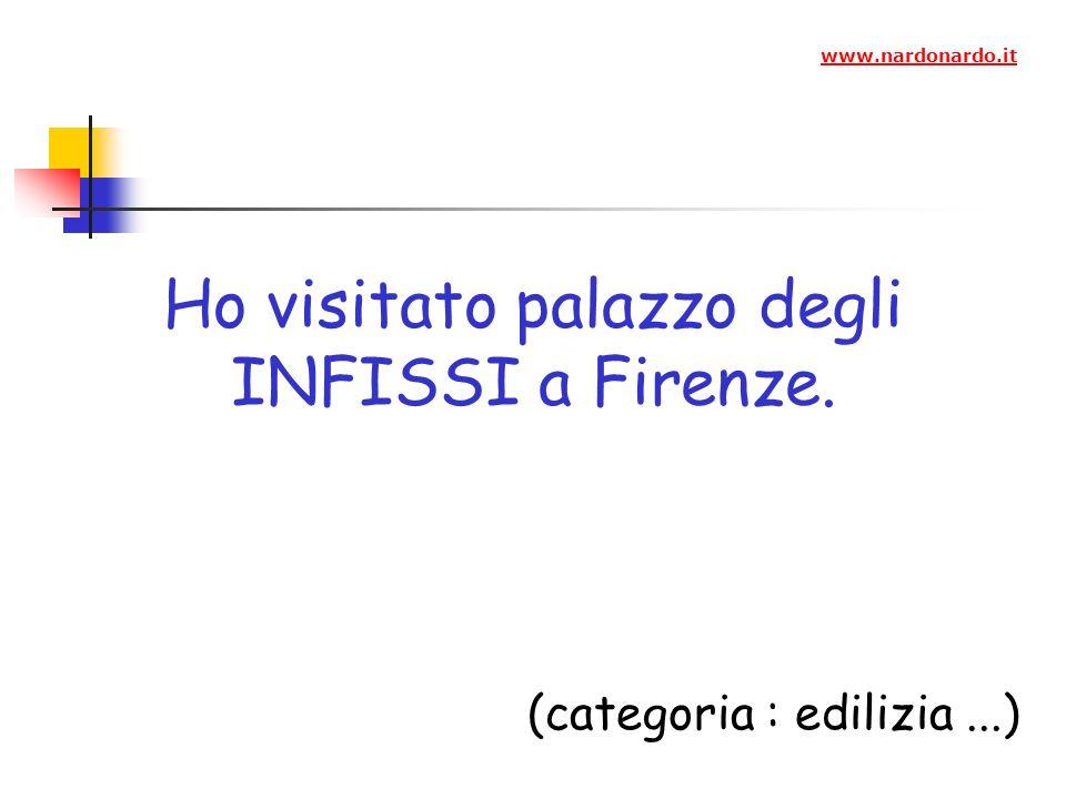 Ho visitato palazzo degli INFISSI a Firenze. (categoria : edilizia...) www.nardonardo.it