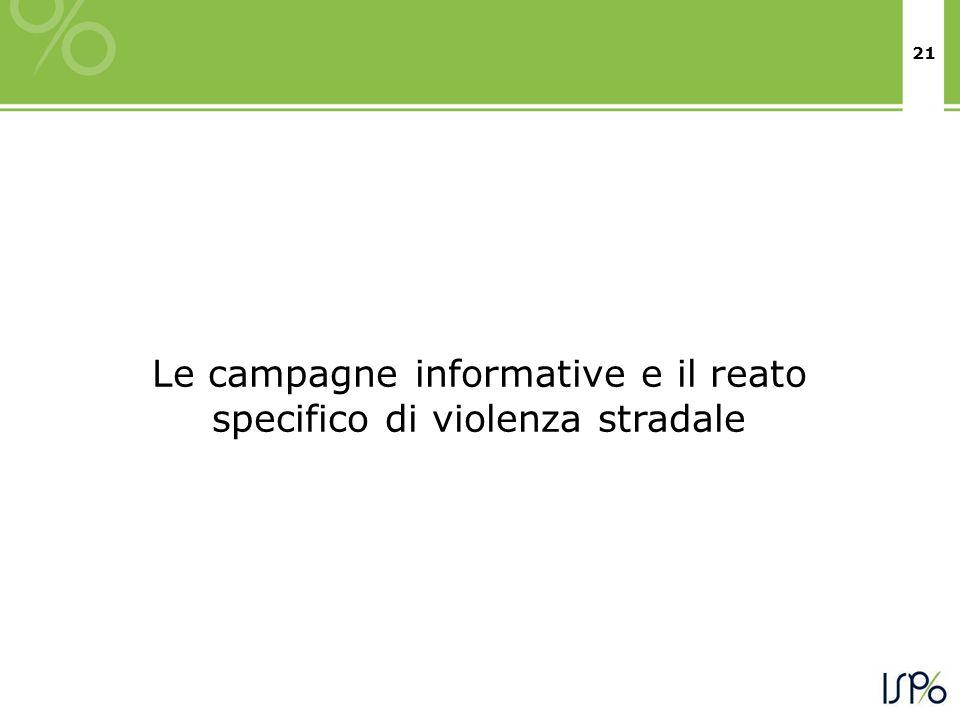 21 Le campagne informative e il reato specifico di violenza stradale